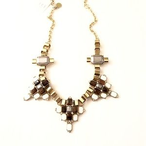 LeeAngel/NEIMENS Tortoise Crystal Fan Necklace$140